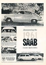 1961 Saab 750 V4 Classic Vintage Advertisement Ad - G6