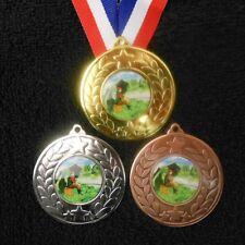 Fishing Medal & Ribbon Engraved Club School Coarse Angling Award Trophy 50mm