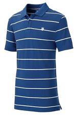New Mens K-Swiss Striped Polo Shirt T-Shirt Top - Blue Stripe