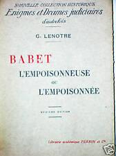BABET L'EMPOISONNEUSE OU L'EMPOISONNEE Leverd Normont