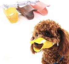 Pet Puppy Dog Cat Muzzle Quack Duck Bill Design Soft Silicone Bite Stop S/M/L