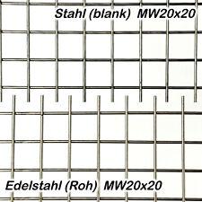 Schweißgitter Stahl Edelstahl 2mm dick 20x20mm Maschen Gitter Zuschnitt auf Maß