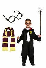 Set completo di Harry Potter Vestito BACCHETTA Cape Sciarpa Occhiali PRENOTARE SETTIMANA ABITO