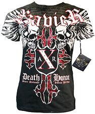 XZAVIER [Death Cult] t-shirt foil MMA motero Harley rocker Gothic tribal Skull X