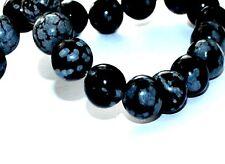 Obsidiana Copo de Nieve Joyería Artesanal Cuentas de Piedras Preciosas Piedras Gema-Varios Tamaños