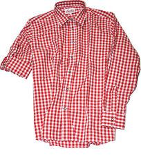 Freizeithemd Wanderhemd Trachtenhemd Hemd FUCHS  Oktoberfest rot weiss