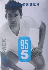 Schiesser 95/5 Hombre 2 Pack Ahorro Camiseta en V Camisa Chaleco 5 6 7 8 Ropa