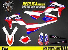 Kit Déco Moto pour / Mx Decal Kit for Beta RR 2T-4T - Replica 2018