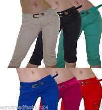 Damen Capri Jeans Bermudas Caprijeans Hüftjeans Caprihose Hose 36-42 S-XL Neu