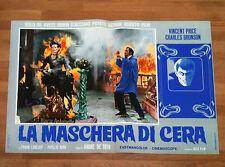 LA MASCHERA DI CERA fotobusta poster Vincent Price Horror House of Wax 1953