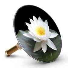 Bath Plopp Fleur de Lotus Blanche Bouchon de Bain Bouchon pour Drain Baignoire