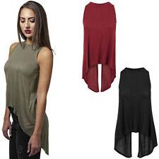 Urban Classics Ladies HiLo Viscose Top T-Shirt XS S M L XL