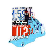 RHODE ISLAND License Plate Plasma Cut Map Sign, Metal Sign Wall Art Garage Art