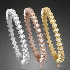 925 ECHT SILBER RHODINIERT *** 3er Zirkonia Ring Set tricolor vergoldet