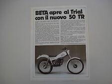 advertising Pubblicità 1979 MOTO BETA 50 TR TRIAL