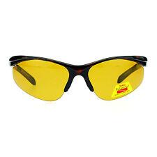 Polarized No Glare Mens Outdoor Baseball Half Rim Fishing Warp Sport Sunglasses