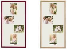 Hama Holz-Rahmen Galerie-Rahmen Giulia 61x35 Foto-Collage Bilder 4x 10x15cm Bild