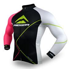 Merida Arc Men's Cycling Jersey Long Sleeve Bike Bicycle Shirt Jacket Reflective