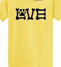 Love Dog Animal lover T shirt Tee puppy pitbull Havanese Doxie paw hand maltese