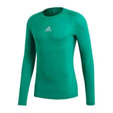 ADIDAS alphaskin camicia sport maniche lunghe Verde