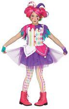 Girls Child Colorful HARLEQUIN CLOWN Costume