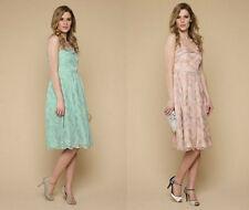 MONSOON Beautiful Keva Tulle Embroidered Pleated Neckline Prom Dress UK 8 10
