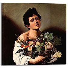 Caravaggio fanciullo canestro frutta quadro stampa tela dipinto arredo casa