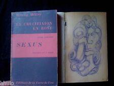 Henry Miller E/O SP 300ex Sexus 2 volumes + 2 dessins érotiques 1949