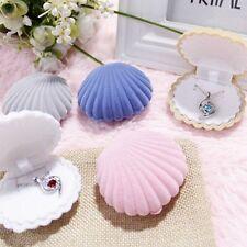 Shell Shape Velvet Gift Box Lady Wedding Jewelry Box For Earrings Necklace Ring