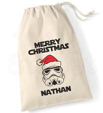 Personalised Star Wars Storm Trooper Cotton Canvas Drawstring Christmas Sack Bag