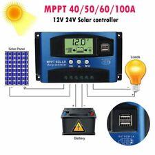 100 40A MPPT Solar Panel Regulator Charge Controller 12V/24V Auto Focus Tracking