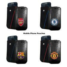 SmartPhone Mobile Leather Pouch Arsenal FC Man Utd FC Chelsea FC FCBarcelona