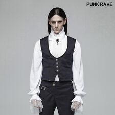 Victorian Gothic Gentleman Dark Blue Jacquard Vest Retro Casual Men Waistcoat