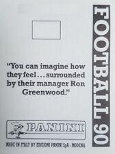 PANINI FOOTBALL 90 autocollants (251-509) - acheter 2+ et Obtenez Gratuit UK Envoi