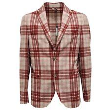 7548L giacca uomo rossa beige GENIALI lana vergine giacche jackets coats men