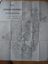 Karte Schwarzwald Oberforstrat Jägerschmid Peterstal Ettlingen Gengenbach Baden