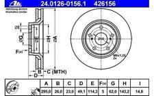 ATE Bremssatz 2 Bremsscheiben Vorne 295mm belüftet Für RENAULT 24.0126-0156.1