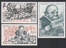 MONACO 1984 RABELAIS/Letteratura/Libri/Scrittori/Bovini/Barche/Pecore 3 V Set (n34183)