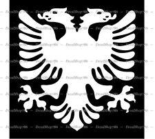 Albanian Eagle Symbol/Mascot/Coat of Arms - Vinyl Die-Cut Peel N' Stick Decal