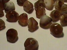 144  SWEET Root Bear Agate Givre Glass Beads 8mm ODD Shape Full Drill & MINT
