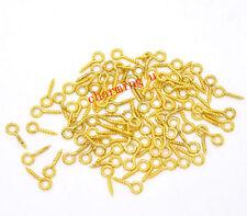 200 pz Ganci per ciondoli colore oro 10x4mm