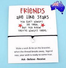Best Friends Wish Star Charm Friendship Bracelet Gift Inspiration Message Card