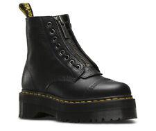 MARTENS SINCLAIR AUNT SALLY NERO cerniera suola alta scarpe donna 160a5053503
