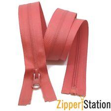 Waterproof Red Open Ended 70cms 75cms 80cms Zips Zippers. Jackets & Coats Zips