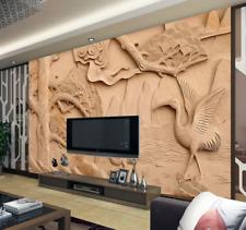 3D Fly Crane Tree 711 Wall Paper Murals Wall Print Wall Wallpaper Mural AU Kyra