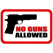 Plastic Sign No Guns Allowed
