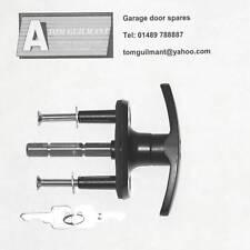 Henderson Doric garage door black T bar lock handle long spigot long spindle