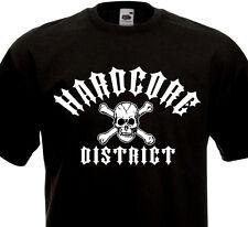 T-shirt Hardcore District Skull HXC Metal Madball Agnostic Front Biohazard D.R.I