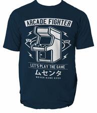 ARCADE FIGHTER T Shirt GAMER GAME OLD STYLE TETRIS MEN SIZE S-3XL