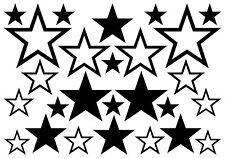 STERNE AUFKLEBER Sticker Stars Deko Auto Laptop Spiegel Fliesen Möbel Bad Küche